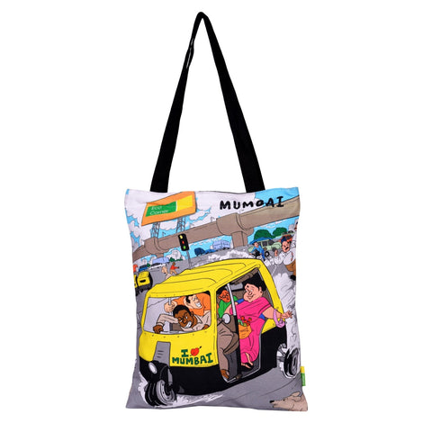 Small Aamchi Mumbai Auto Cotton Bag