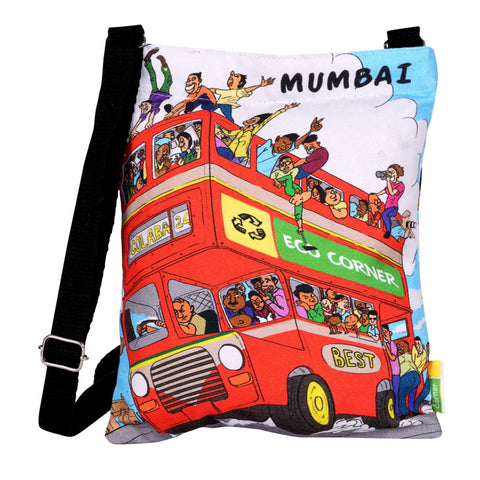 Small Aamchi Mumbai Bus Sling Bag