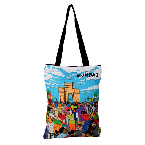 Small Aamchi Mumbai Gateway Cotton Bag