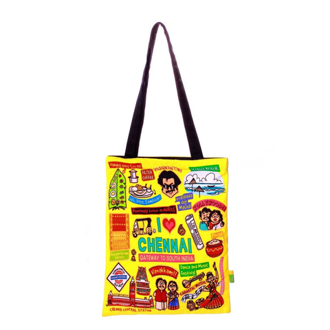 Small Coloured Chennai Cotton Bag