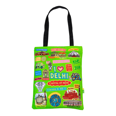 Small Coloured Delhi Cotton Bag