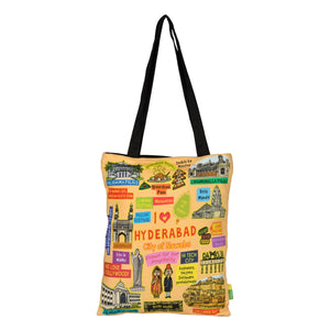 Small Coloured Hyderabad Cotton Bag