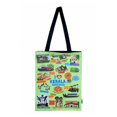 Small Coloured Kerala Cotton Bag