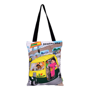 Small Namma Bengaluru Auto Cotton Bag