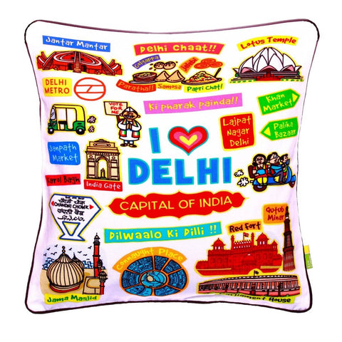 Delhi White Cushion Cover