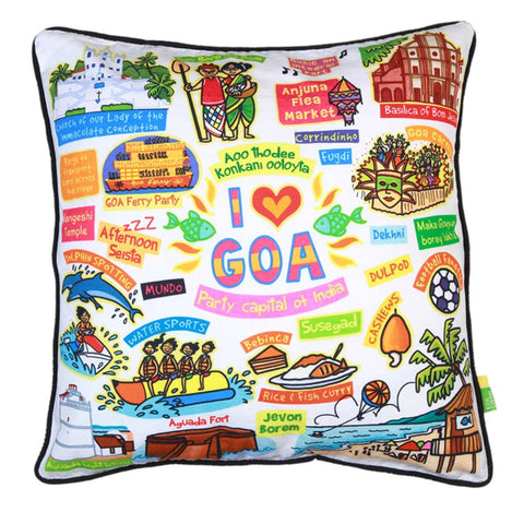 White Goa Cushion Cover