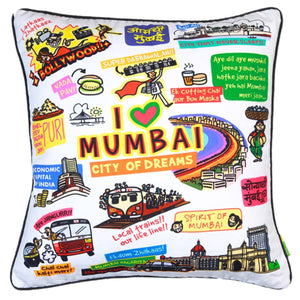 White Mumbai Cushion Cover