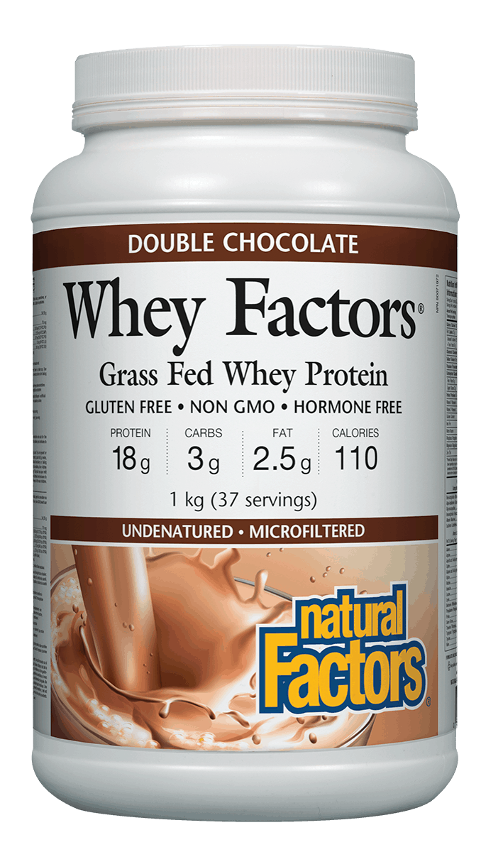 Natural Factors Whey Factors Double Chocolate Protein 1kg