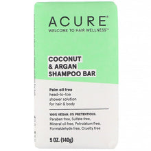 Load image into Gallery viewer, Acure Coconut & Argan Shampoo Bar 140g