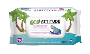 Attitude Baby Wipes Biodegradable 72pk