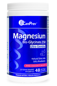 CanPrev Magnesium Bis-Glycinate Blueberry Drink Mix 257g