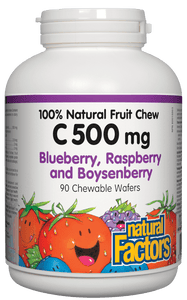 NF Vit C 500mg Blue Rasp 90chews