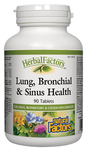 Natural Factors Lung Bronchial & Sinus Health 90 Tablets