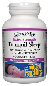 Natural Factors Tranquil Sleep Extra Strength 60 Chewable Tablets