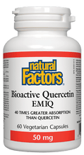 Load image into Gallery viewer, Natural Factors Bioactive Quercetin EMIQ 50 mg 60 Vegetarian Capsules