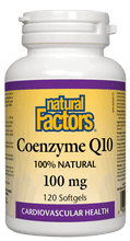 Load image into Gallery viewer, Natural Factors CoQ10 100mg 120 Softgels