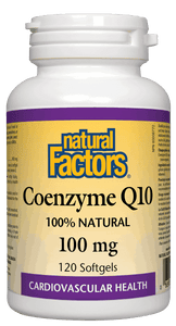 Natural Factors CoQ10 100mg 120 Softgels