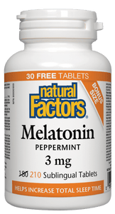 Natural Factors Melatonin 3mg Mint (210 sublingual tabs)