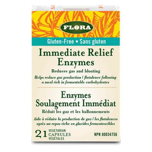 Flora Immediate Relief Enzymes - 21 veg capsules