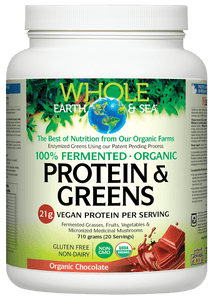 Whole Earth and Sea Protein And Greens- CHocolate 710g