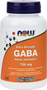 NOW GABA 750mg 100 Vegetable Capsules