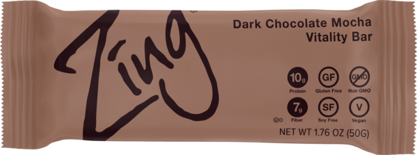 Zing Dark Choc Mocha Bar 50g