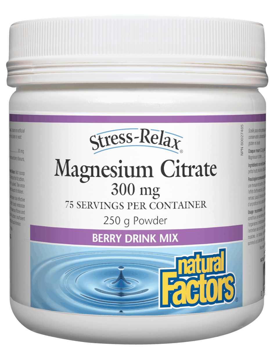 Natural Factors Magnesium Citrate Berry Drink Mix 250g