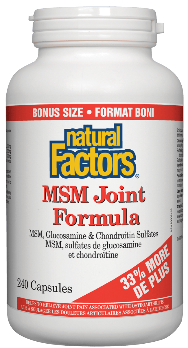 Natural Factors MSM Joint Formula 240caps