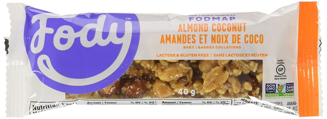 Fody Almond Coconut Bars 40g