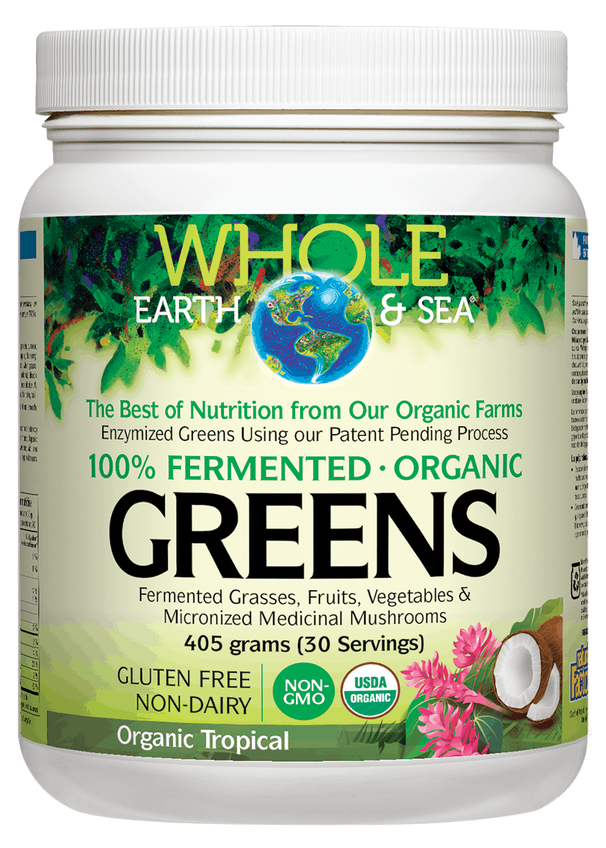 Whole Earth And Sea Fermented Greens Tropical 405g