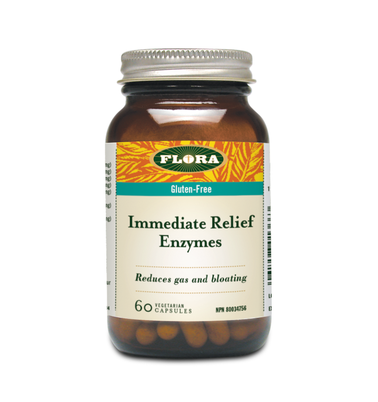 Flora Immediate Relief Enzyme - 60 veg capsules