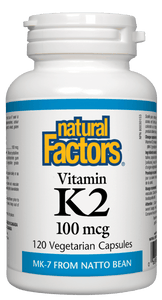 Natural Factors Vitamin K2 100mcg 120 Vegetarian Capsules
