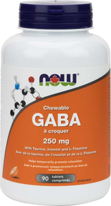 NOW GABA 250mg 90 Chewable Tablets