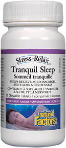 Natural Factors Tranquil Sleep Travel 10 CHewable Tablets