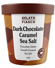 Load image into Gallery viewer, Righteous Dark Chocolate Caramel Sea Salt Gelato 106ml