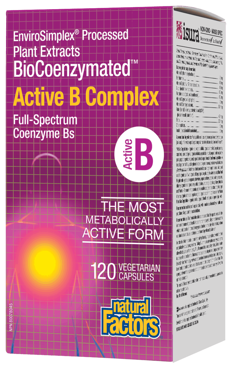 Natural Factors BioCoenzymated Active B Complex 120 Capsules
