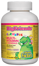 Load image into Gallery viewer, Natural Factors Big Friends Chewable Multivitamin Minerals 60 Chewable Tablets