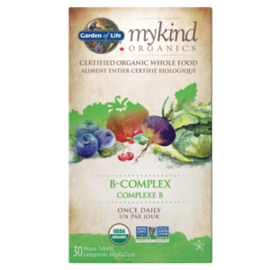 Garden of Life mykind Organics Vitamin B-Complex Once Daily 30 Tablets