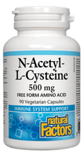 Load image into Gallery viewer, Natural Factors N-Acetyl Cysteine 500mg 90 Capsules