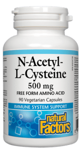 Natural Factors N-Acetyl Cysteine 500mg 90 Capsules