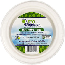 "Load image into Gallery viewer, EG Biodegradable Plates 7"" 20pk"