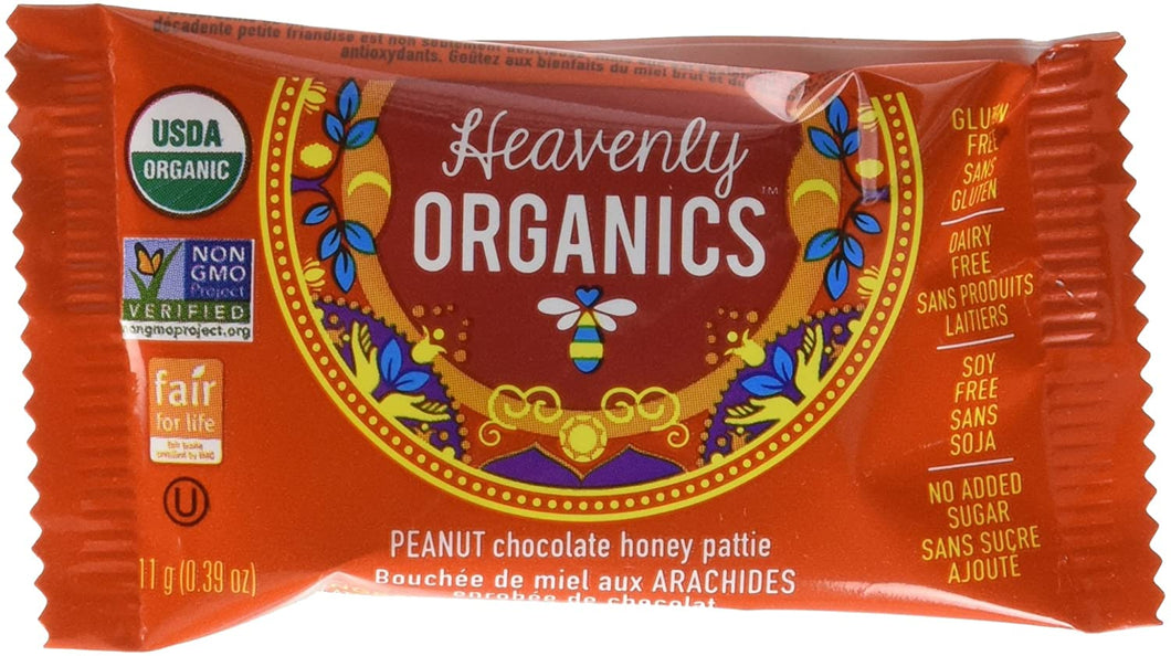 Heavenly Organic Chocolate Peanut Honey Patty 11g