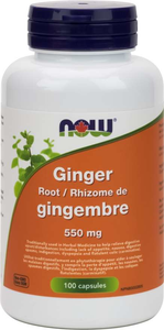 NOW Ginger Root 550mg 100 capsules