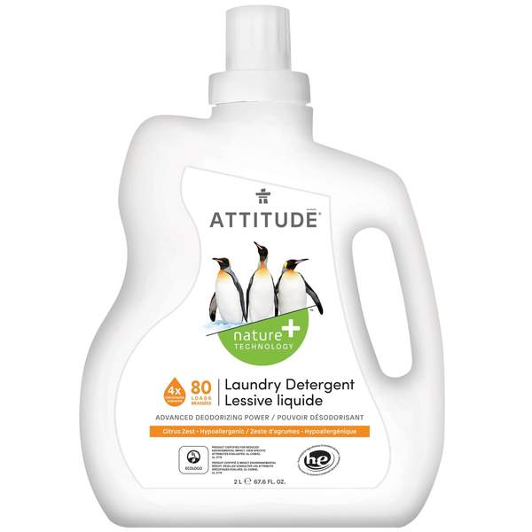 Attitude Nature+ Laundry Detergent in Citrus Zest 2L