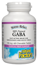 Load image into Gallery viewer, Natural Factors GABA 100mg 60 Chewable Tablets