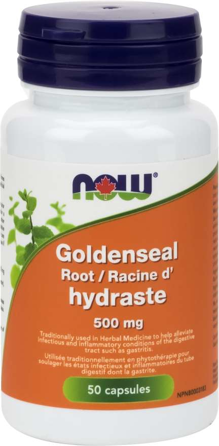 NOW Goldenseal 500mg 50 Capsules