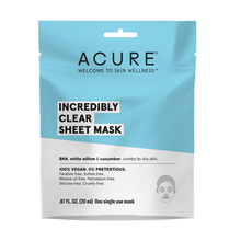 Load image into Gallery viewer, Acure Incredibly Clear Sheet Mask 20ml