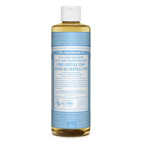 Dr Bronner's Unscented Castile Soap 473ml