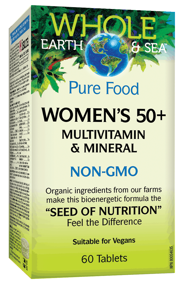 Whole Earth & Sea Women's 50 plus Multivitamin 60 Tablet