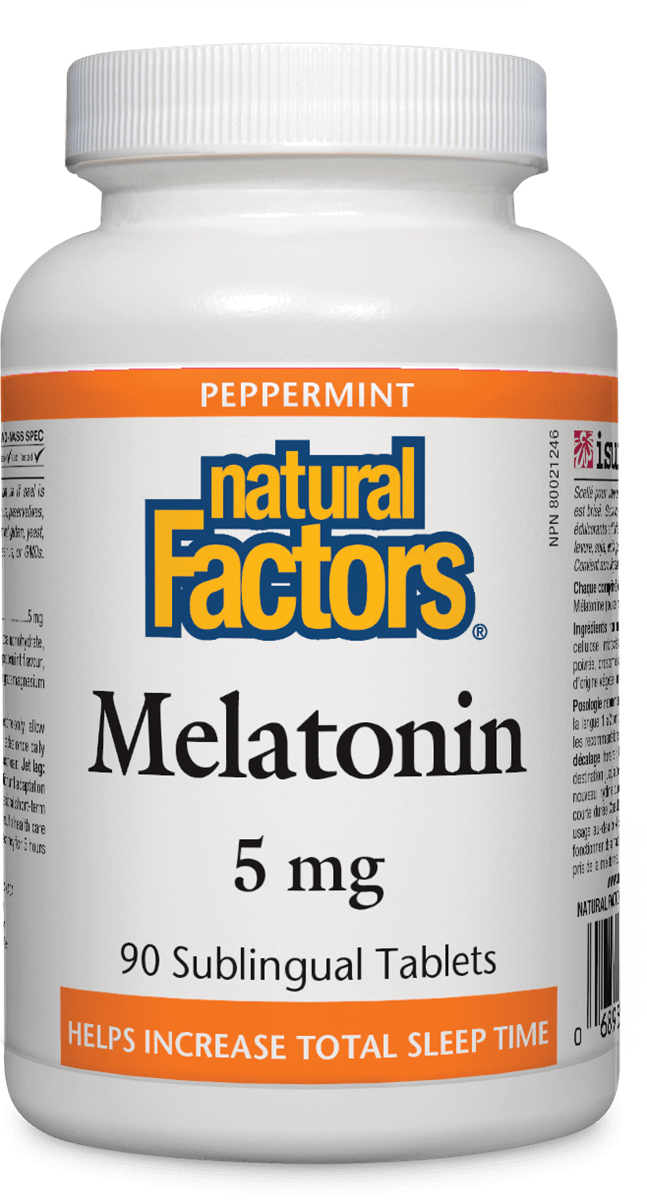 Natrual Factors Melatonin 5mg Mint (90 sublingual tabs)